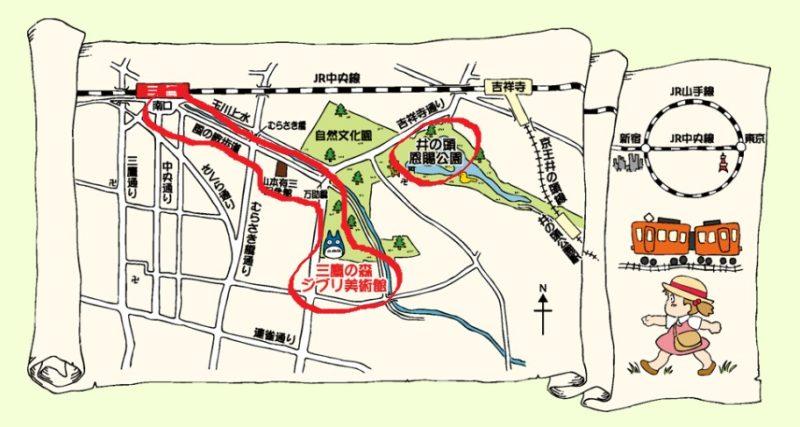ジブリ美術館アクセスマップ