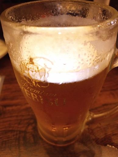 写真撮る前にビール飲んじゃった