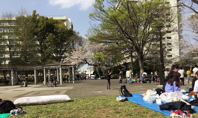 戸山公園の様子