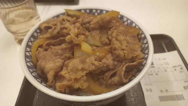吉野家の牛丼特盛