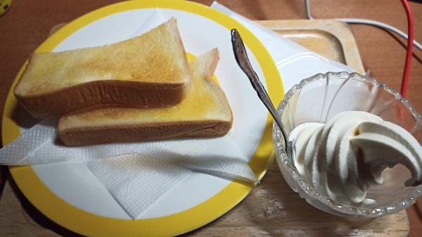 トーストとアイス