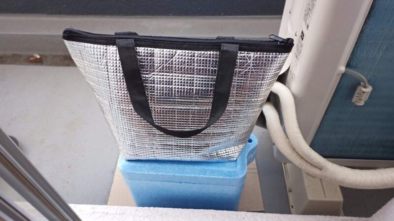 ダイソーで買ったクーラーボックスと保温バッグ