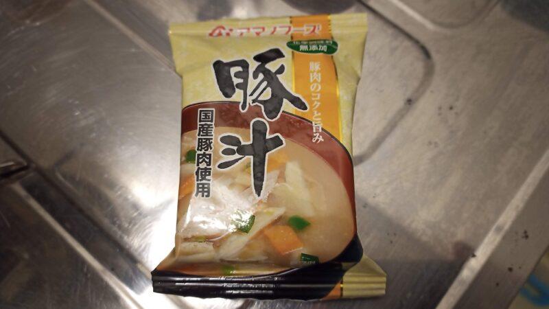 アマノフーズのフリーズドライの豚汁(140円くらい)
