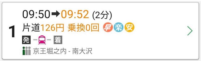電車賃126円