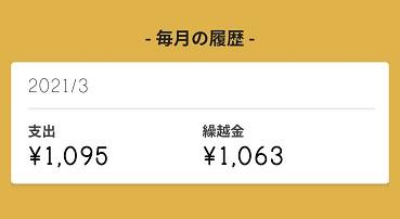 今月の支出は1,095円