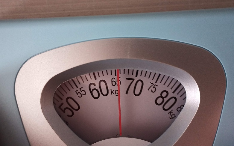 現在の体重は、65~66kgの間くらい