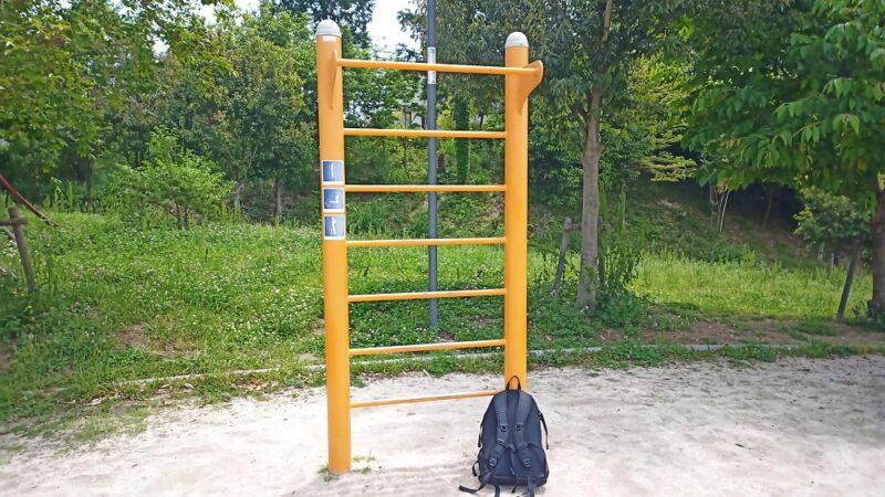 近くの公園にある懸垂ができる鉄棒